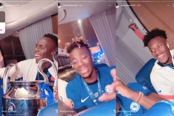 Watch The Moment Chelsea Players Sang Olamide's Song 'Infinity' After Winning The Champions League